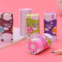 1pcs/lot Colorful Cartoon Mushroom Eraser Rubbe Student School gift Stationery