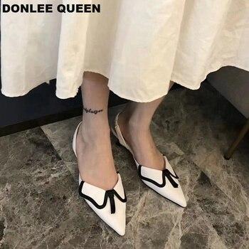 New Autumn Low Heel Shoes Women 2019 Female Straps Slingback Women Sandals Casual Wedding Shoe Elegant Women Pumps zapatos mujer