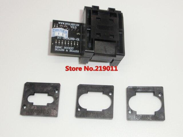 RT BGA169 01 V2.3 EMMC Seat EMCP153 EMCP169 Socket BGA169 BGA153  EMMC ADAPTER 11.5*13mm add more 3 pcs Matrix FOR RT809H