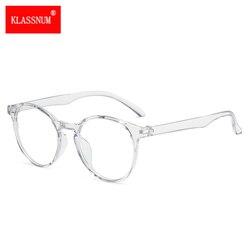 Women Classic Transparent Round Anti Blue Rays Glasses Men Clear Lens Myopia Eyeglasses Optical Spectacle Frames Goggles Eyewear