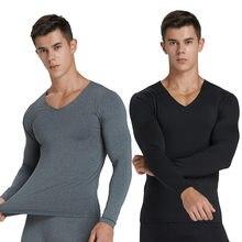 Hommes sous-vêtements thermiques hiver longs Johns hommes hauts Buttoms vêtements ensemble Invisible