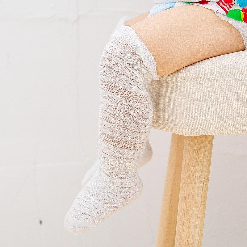 Купить с кэшбэком 0-3 Years Baby Girl Boy New Long Socks Summer Ultra-thin Cotton Children Socks Mesh Babys Pile Socks Boneless Baby Sock