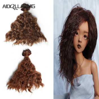 Aidolla bjd wig 15*100CM  doll hair for 1/3 1/4 1/6 Natural Color Curly  hair doll hair bjd wig diy new arrival 1 piece 100cm long wigs wave small curly long wig hair tree for 1 3 1 4 1 6 bjd diy dolls hair