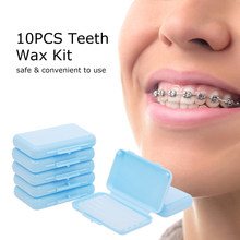 10PCS Teeth Wax Kit Pain Relief for Orthodontic Braces Wearers 1 Box of 5 Strips Dental Wax for Oral Care(China)