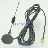 Tüketici Elektroniği'ten Pil Aksesuarları'de DHL/EMS 20 Takım Anten GPRS GSM 433MHZ 3dBi SMA jack pin bölme için Manyetik Taban Amatör Radyo  C1
