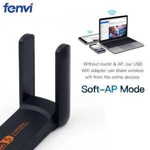 Image 3 - Dual Band 1900M USB3.0 Wifi 1200Mbps AC600 USB 802.11ac wifi Adapter for PC Laptop Wireless Network Wlan Desktop 2.4G 5G Antenna