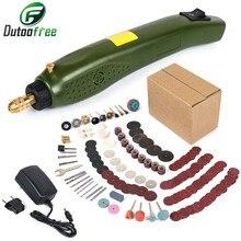 Typ zasilania wiertarka ręczna Mini wiertarka elektryczna z 275 sztuk Dril bity zestaw akcesoriów Dremel narzędzie wygrawerować Pen US ue Carving Machine