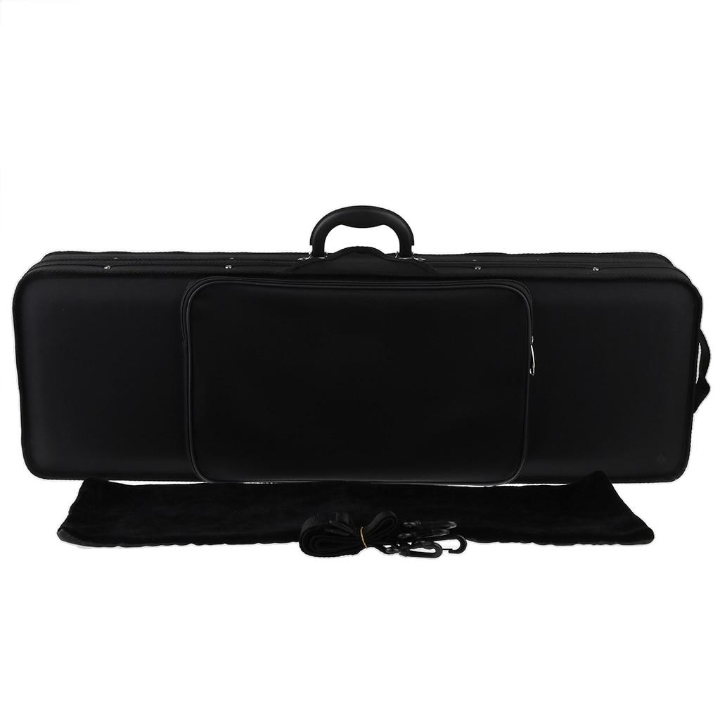 Portable Oxford Fabric 4/4 Size Black Violin Fiddle Storage Case Box Gig Bag Violin Fiddle Accessory for Violinist