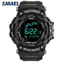 Smael 1802 Цифровые мужские часы военные водонепроницаемые спортивные