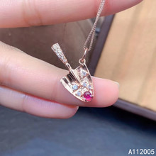 KJJEAXCMY Fine Jewelry 925 Sterling Silver inlaid Natural gemstone ruby Female Pendant Necklace exquisite Support test kjjeaxcmy fine jewelry 925 sterling silver inlaid natural gemstone amber wax female ring support test