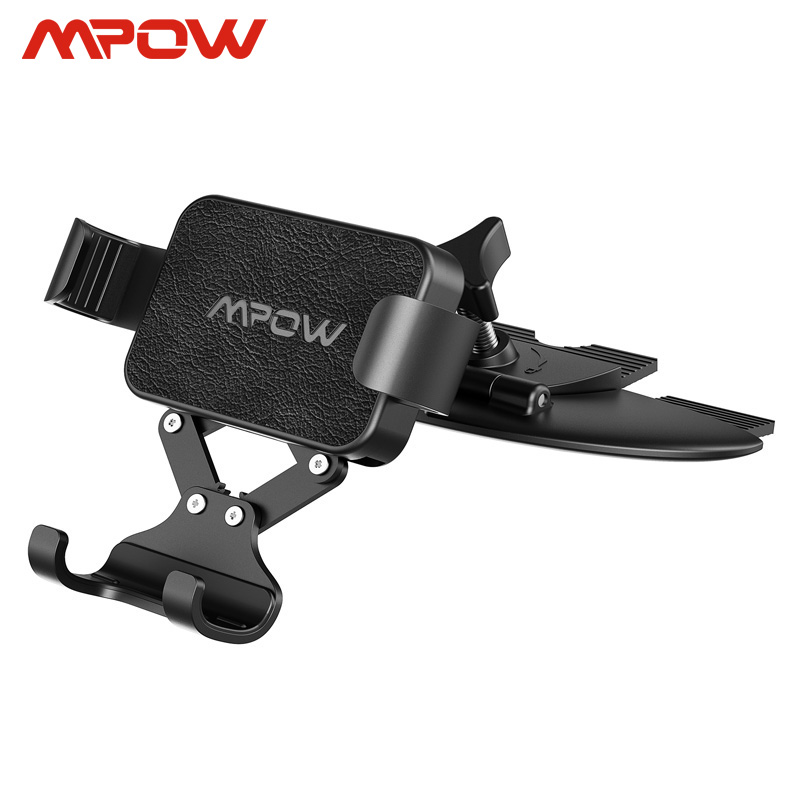Mpow CA135 CD Slot Car Phone Holder Universal For Phones Under 6.5 Inch Gravity Car Mount Auto-clamping Hands Free For IPhone Xs