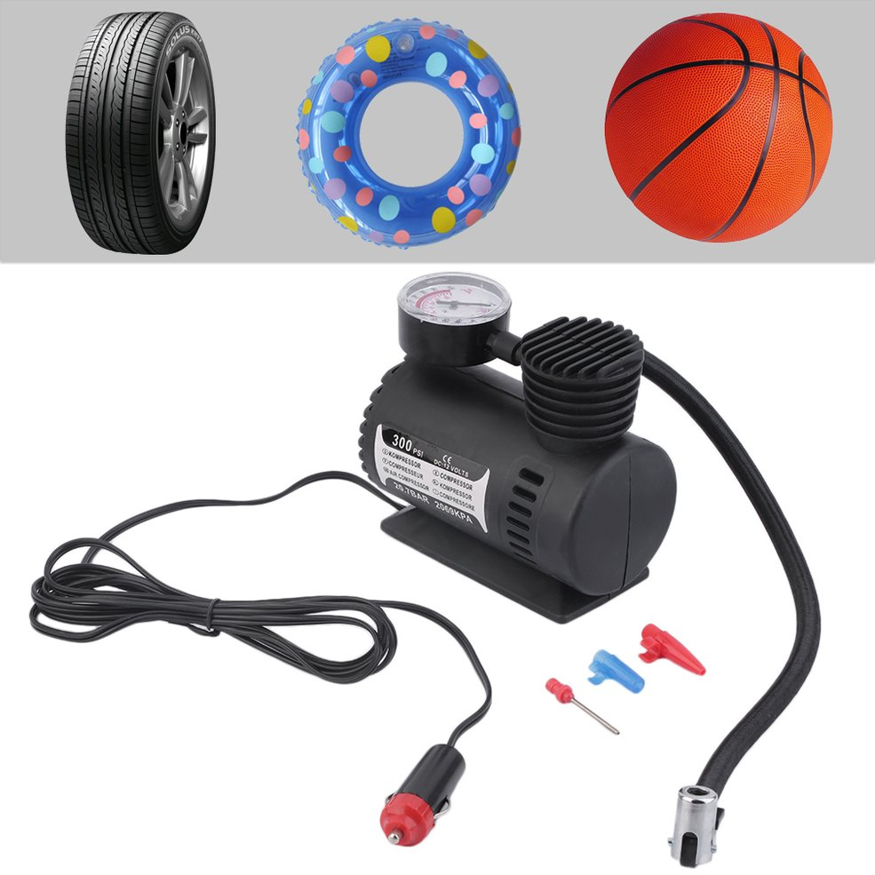 Mini 12V Inflator Pump Toys Sports Electric Pump Portable Mini Compact Compressor Pump Tyre Air Inflator