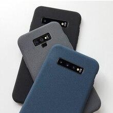 grit case on for Samsung Galaxy S20 ultra S10 5G S10E S9 S8 note 10 lite pro 9 8 plus S7 S6 edge anti fingerprint back cover