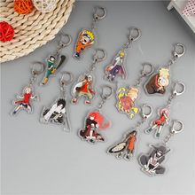 Hot Anime Naruto Key Chains Fashion Japanese Cartoon Hokage Ninjia Uchiha Sasuke Uchiha Itachi Keychains Keyrings Jewelry(China)