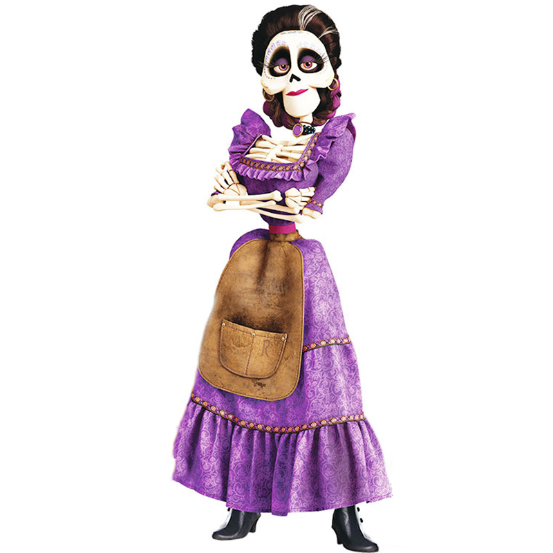 Pixar CoCo Mama Imelda Cosplay Costume Girls Dresses Music Dreaming Around Halloween Party Fancy Dress For Kids Purple C19646CH