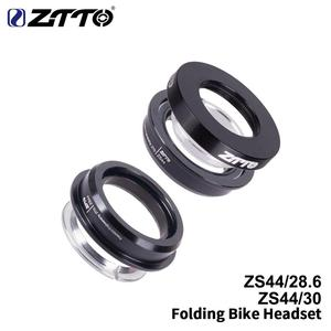 ZTTO Folding Bike Headset ZS44 Headset 44mm Steering 1-1/8 28.6mm Straight Tube Mountain Bike Low Profile Semi-integrated
