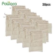 Многоразовые мешки для продуктов 30 шт 15 моющиеся сетчатые