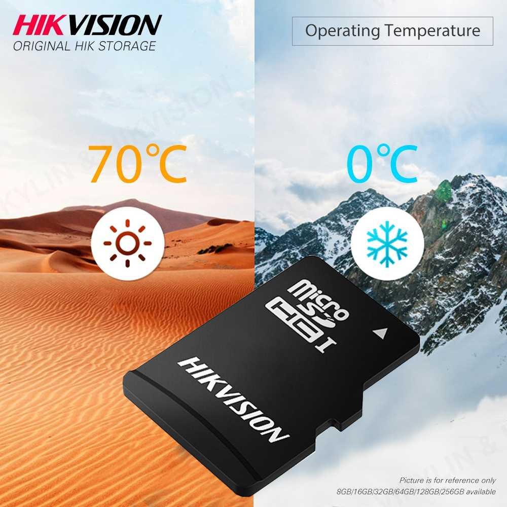 HIKVISION 100% оригинальная Micro SD карта класс 10 8 ГБ 16 ГБ 32 ГБ 64 Гб 128 ГБ 256 ГБ макс. 92 м/с MicroSDHC/XC UHS-I карта памяти TF # C1