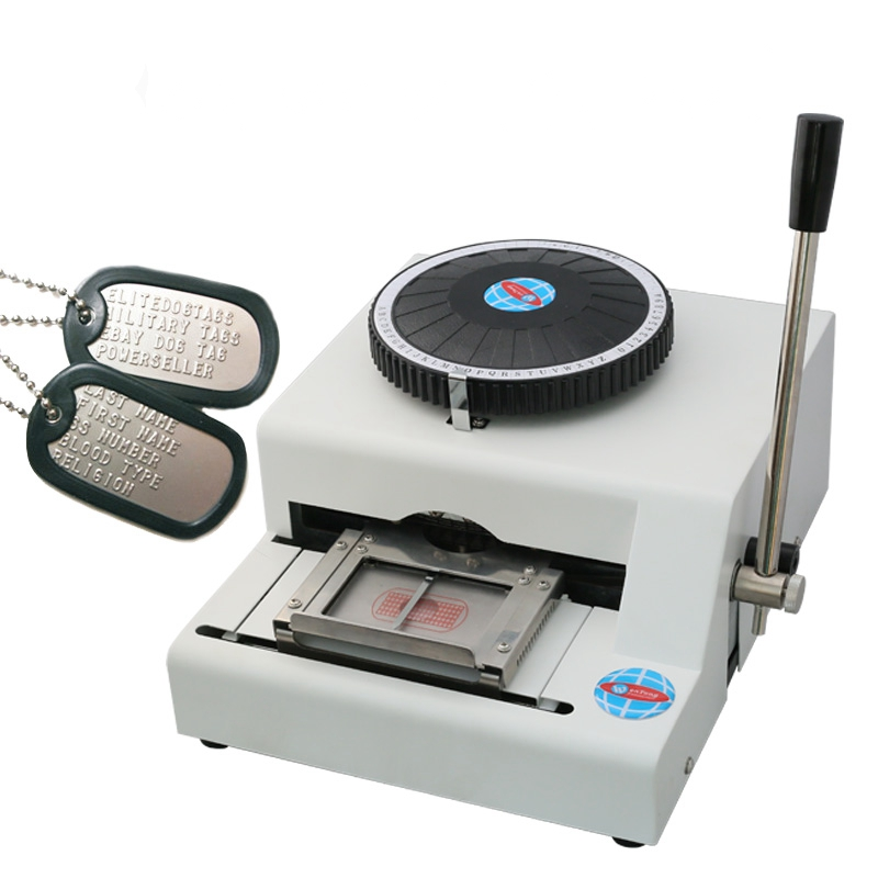 Metal Stainless Steel Stamping Code Dog Tag Coder Manual Stamping Machine Stamping Code Printing Stainless Steel Embossed Tag