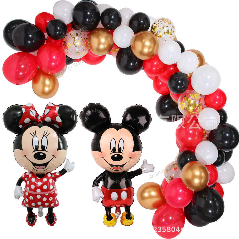 115pcs Mickey Mouse Birthday Party Decorations Kids Balloons Happy Birthday Balloon Minnie Mouse Party Decorations For Home Ballons Accessories Aliexpress