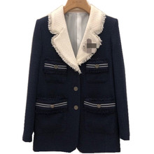 spring autumn tweed blazer women notched loose single breasted small fragrance s