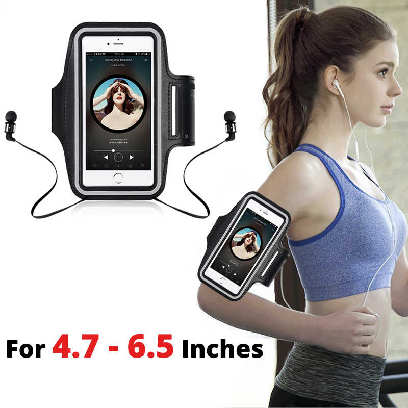 4.7-6.5 Inch Sport Training Armband Phone Case Voor Iphone 11 Pro X Xs Xr Max 6 6S 7 8 Plus Case Arm Band Belt Running Cover Tassen