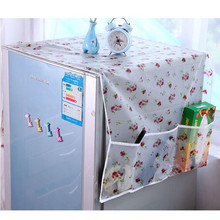 Household Refrigerator Dust Cover With Pocket Bag Muti-Functional Fridge Proof Pouch Organizer Storage Bags Kitchen Accessories