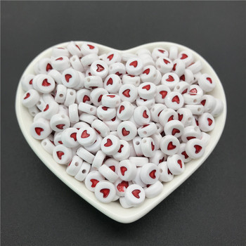 100pcs/lot 4x7mm Acrylic Spacer Beads Letter Beads Oval Alphabet Beads For Jewelry Making DIY Handmade Accessories 8