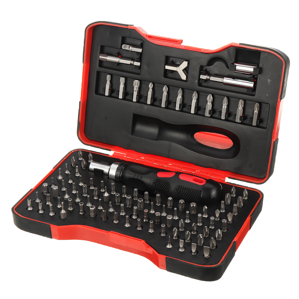 101Pcs/set Multi-function Combination ML-RS1 Ratchet Screwdriver 6.35mm Screw Driver Set For Household DIY Driver Tool