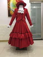 New Black Butler Madam Red Cosplay Costume Angelina Dares Dress Halloween/Carnival Party Costumes for Women/Men Anime Costume