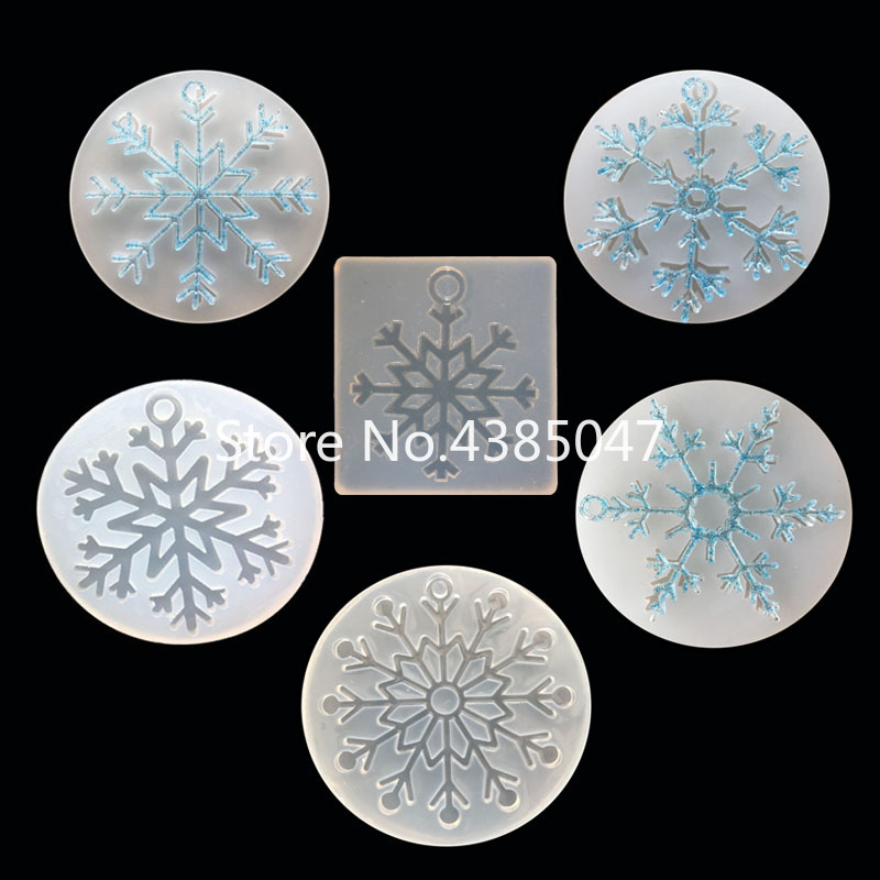 Snowflake UV Resin Epoxy Jewelry Molds Snowflowers Shaped Decorating Jewelry Accessories