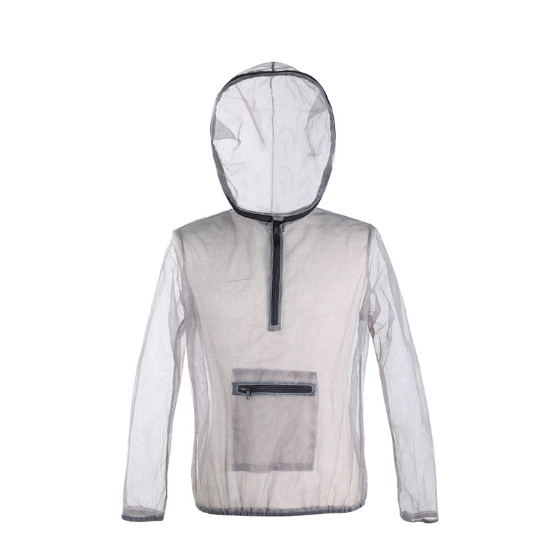 Outdoor Jacket Ultra Light Mesh Hooded Mosquito Camping Fishing Gardening Protection Mesh Shirt Fishing Suit Fishing Clothings     - title=