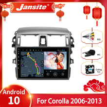 Jansite Android 10.0 Auto Radio Multimidia Video Speler Voor Toyota Corolla E140/150 2006-2013 2 Din 4G Gps Navigaion Split Screen
