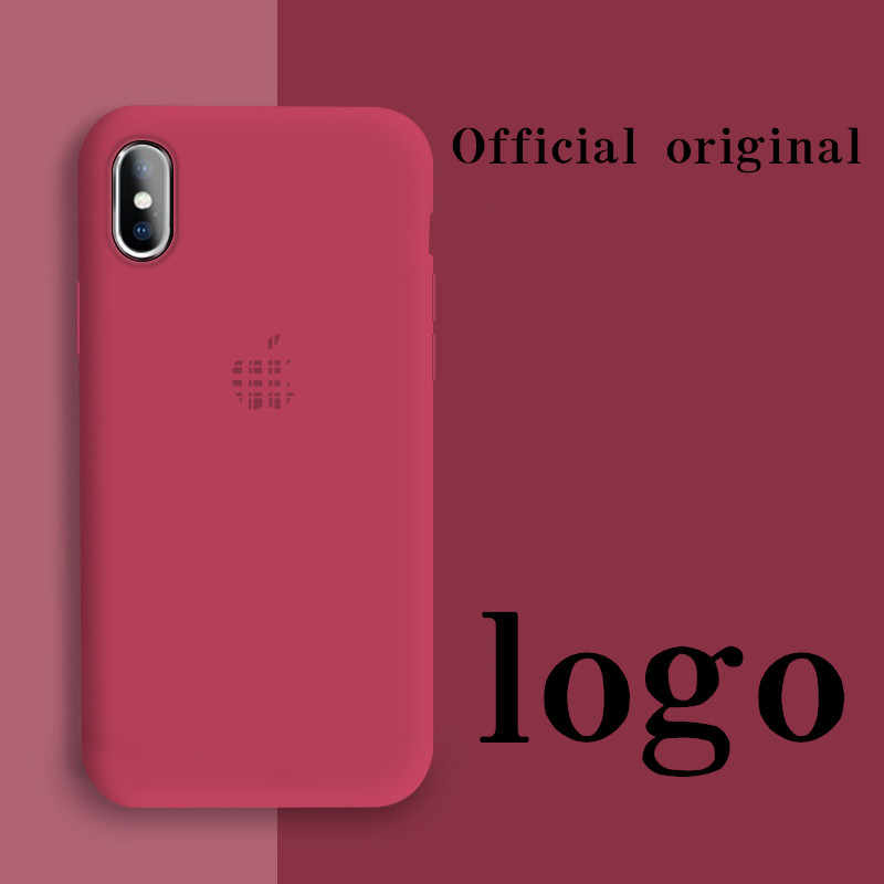 Logotipo líquido oficial para iphone 11 caso original iphone 7 8 7plus 8p x xs xr xsmax com logotipo csae para iphone 11promax caso