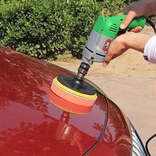 11pcs3 дюймов Полировочный диск самоклеящийся полировальный комплект для ваксации Губка Колеса шерсть колеса автомобиля полировальный станок для удаления царапин