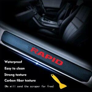 Наклейка на порог двери автомобиля Наклейка для Skoda RAPID Автомобильная Защитная Наклейка на порог двери автомобильные аксессуары