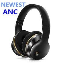 سماعات رأس ANC مزودة بتقنية البلوتوث وخاصية إلغاء الضوضاء سماعات أذن لاسلكية مزودة بستيريو وصوت هاي فاي وصوت عميق للألعاب الرياضية مع ميكروفون