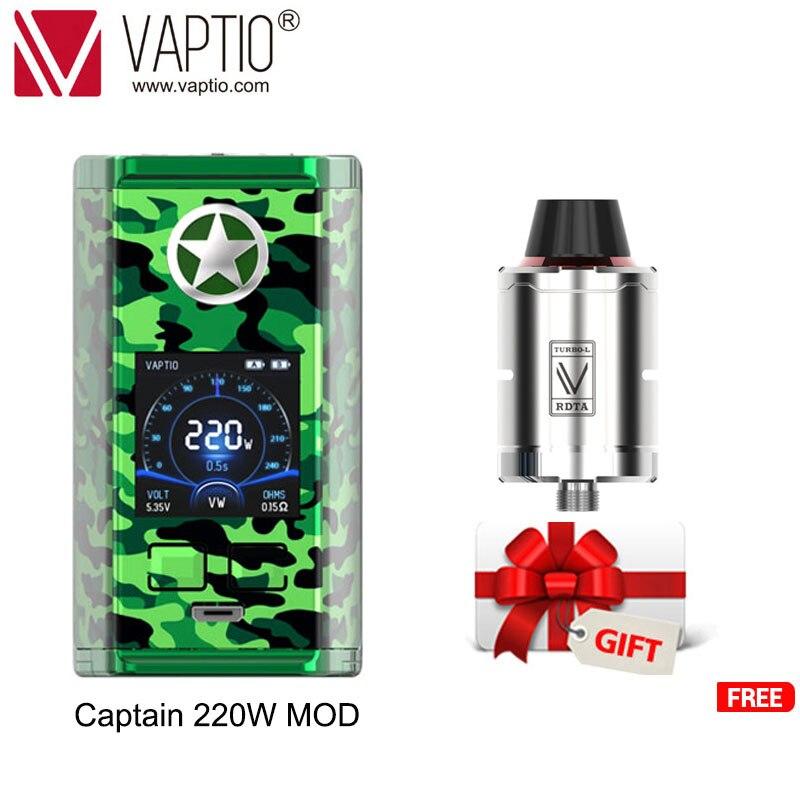 1【Special preis Senden Tank】Vaptio E-Zigarette KAPITÄN vape 220w box MOD für 2*18650 batterie 510 gewinde