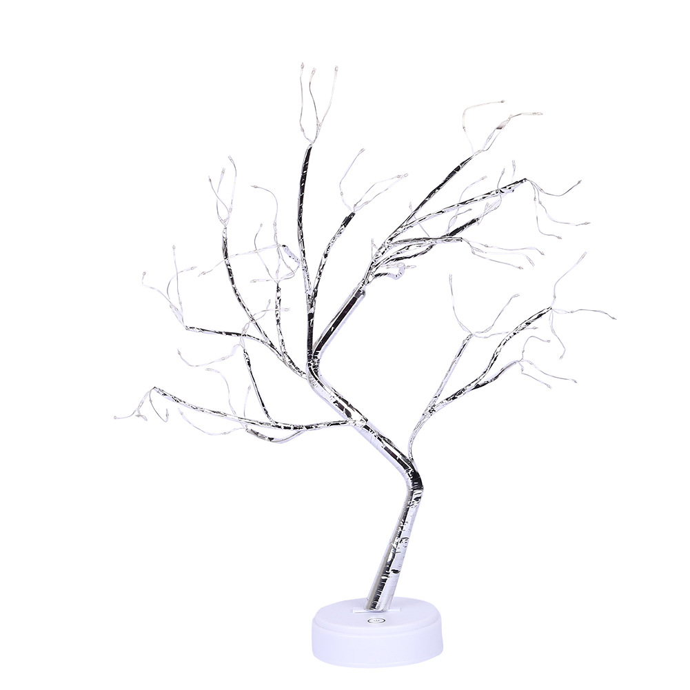 Branch Lamp Party Durable Office Bonsai Home Decor Warm White Tree Lights Tabletop Indoor Gift Night Snow Holiday