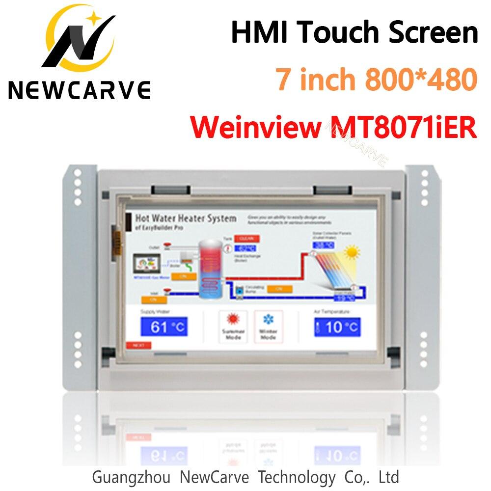 Tela táctil incorporado da relação mt8071ier hmi da máquina humana 7 Polegada 800*480 weinview/weintek newcarve