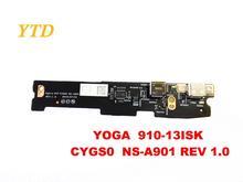 Oryginalny dla Lenovo Yoga 910 13ISK joga 910 13 USB board Yoga 910 13ISK CYGS0 NS A901 REV 1.0 testowane dobra darmowa wysyłka