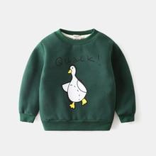Children plus velvet sweater winter new boy super soft thick warm sweater baby winter cartoon children's clothing
