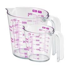 250/500ml graduou o copo de medição plástico claro para o jarro derrama o recipiente do bico