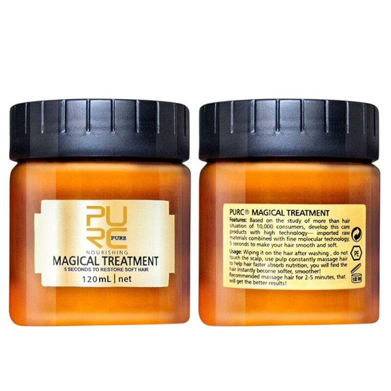 120ML/60ML Magic Deep Hair Cream Repair Keratin Hair &Scalp Treatment Nutrition Soft Baking Oil Repairing Hair Rashness Scalding
