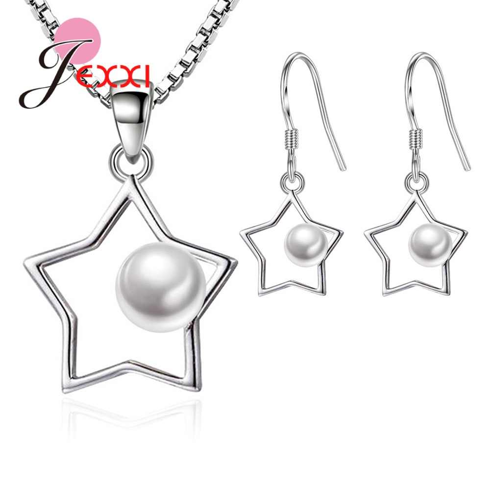 Nobel Star and Pearl Ball  Women Jewelry Sets for Wedding Engagement Party Accessories Pentagram Star Lovely Original Design
