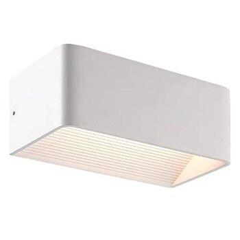 Lampara de pared aplique LED 3000K IP65 rectangular Blanco 10W