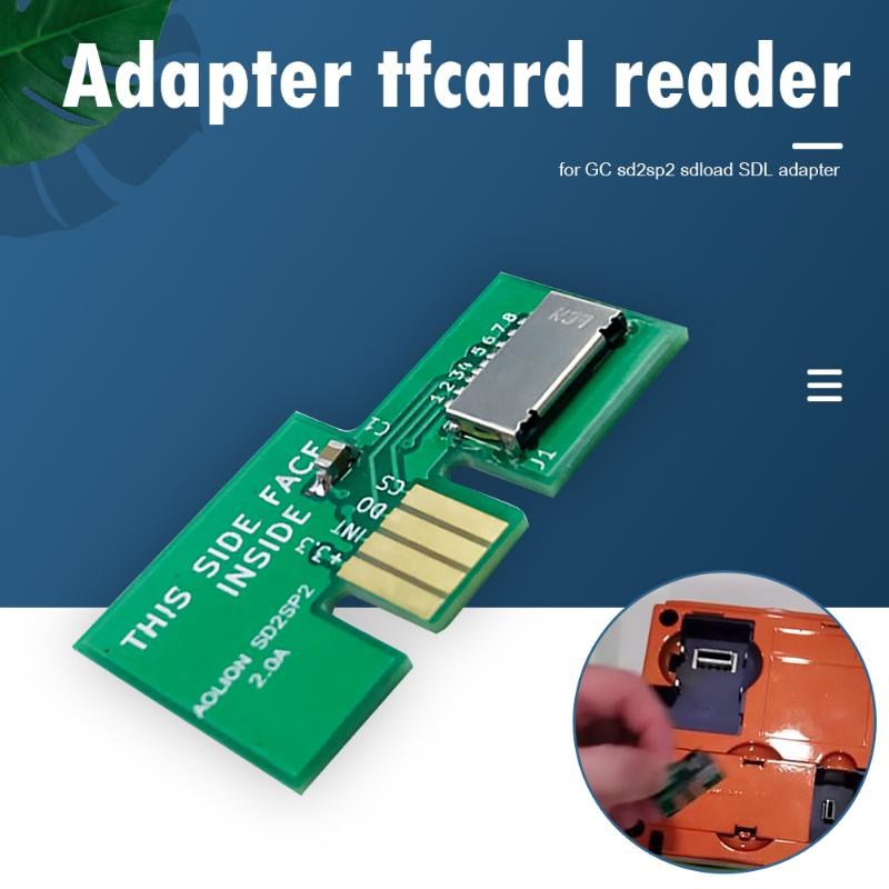 Card Adapter TF Card Reader Replacement For NGC SD2SP2 SDLoad SDL Adapter Special Parts For Game Consoles