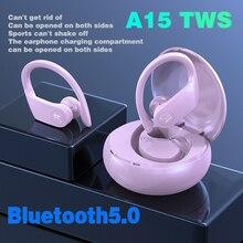 A15 TWS słuchawki Bluetooth 5.0 słuchawki sportowe wodoodporne słuchawki douszne działają na wszystkich bezprzewodowych słuchawkach Android iOS smartphone