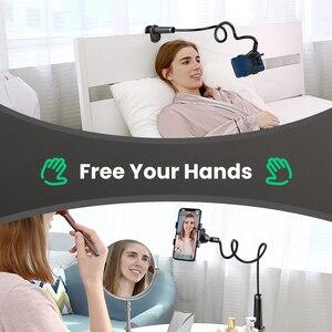 Image 5 - Ugreen טלפון מחזיק זרוע עצלן נייד טלפון Goosneck Stand מחזיק עבור iPhone 8/X גמיש מיטת שולחן שולחן קליפ סוגר עבור טלפון