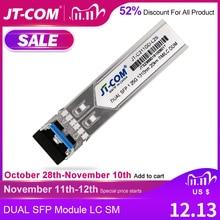 1Gb Mini Gbic Single Mode duplex SFP Module LC Compatible SFP Cisco/Mikrotik Switch GLC LH SM Fiber Optic module 20/40/80/120KM